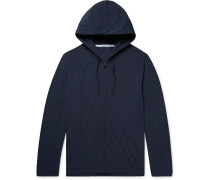 Stretch Modal And Cotton-blend Jersey Zip-up Hoodie