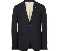 Blue Slim-fit Wool-hopsack Suit Jacket