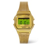 T80 34mm Gold-Tone Digital Watch
