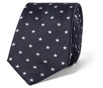 6cm Star-embroidered Silk Tie