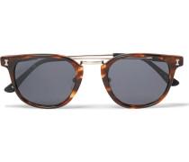 Tribeca Ii D-frame Acetate And Gold-tone Sunglasses