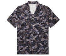 Dario Camp-Collar Printed Cotton Shirt