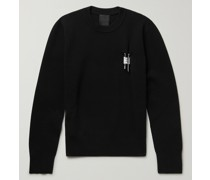 Logo-Embellished Stretch-Knit Sweater