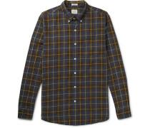 Vernon Button-down Collar Checked Cotton Shirt