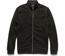 Loopback Cotton-blend Jersey Zip-up Sweatshirt