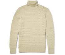 Andreas 6103 Honeycomb-knit Wool Rollneck Sweater