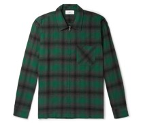 Checked Flannel Zip-Up Shirt