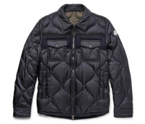 Stephan Felt-trimmed Quilted Shell Down Jacket