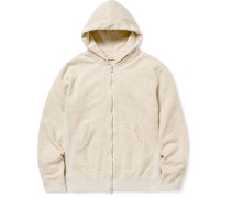 Dweller Mélange Loopback Cotton-Jersey Zip-Up Hoodie