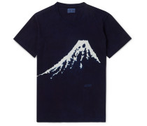 Bassen Indigo-Dyed Cotton-Jersey T-Shirt