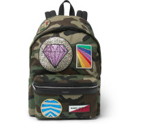 City Appliquéd Camouflage-print Twill Backpack