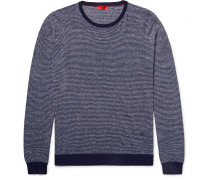 Striped Cotton And Linen-blend Sweater