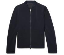 Slim-fit Textured-wool Bomber Jacket