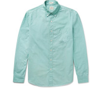 Button-down Collar End-on-end Cotton Shirt