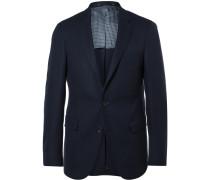 Navy Roan Slim-fit Stretch Virgin Wool Blazer
