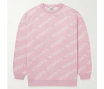 Logo-Intarsia Cotton Sweater