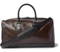 Polished-Leather Weekend Bag
