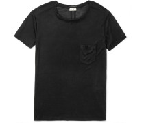 Slim-fit Washed Silk-jersey T-shirt