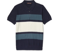 Slim-fit Striped Knitted Cotton Polo Shirt