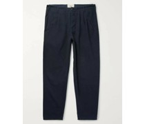 Assembly Tapered Pleated Cotton-Canvas Trousers