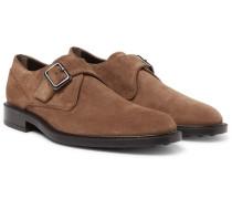 Suede Monk-strap Shoes