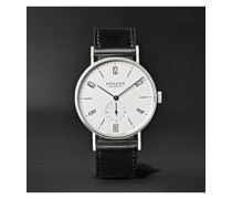 Tangente 38mm Datum Stainless Steel and Leather Watch, Ref. No. 130