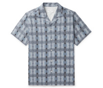 Dario Camp-Collar Tie-Dyed Cotton Shirt