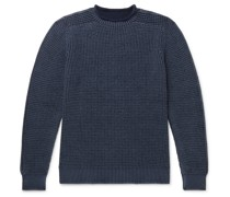 Waffle-Knit Virgin Wool Sweater