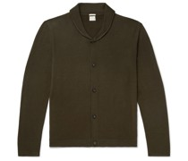 Scoop Slim-Fit Shawl-Collar Wool Cardigan