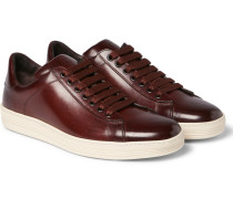 Russel Polished-leather Sneakers