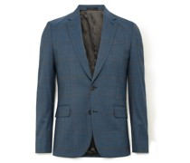 Slim-Fit Prince of Wales Checked Wool-Blend Suit Jacket