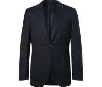 Navy Spirit Slim-Fit Wool-Hopsack Blazer