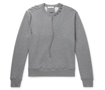 Lace-Detailed Loopback Cotton-Jersey Sweatshirt