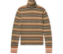 + Wales Bonner Striped Knitted Rollneck Sweater