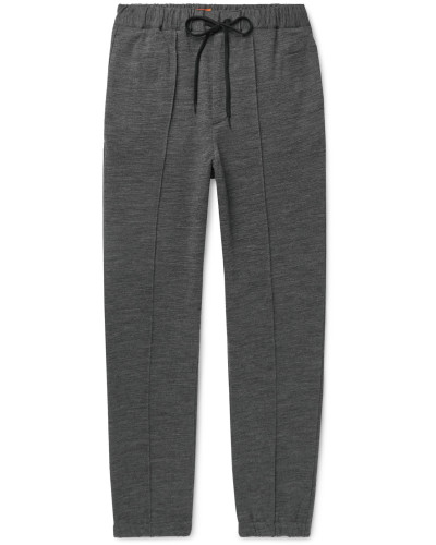 Tapered Wool-Blend Jersey Sweatpants