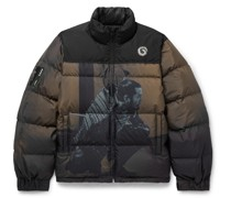 Quilted Printed Ripstop-Shell Down Jacket