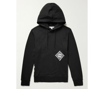 Optimistic Illusions Embroidered Printed Cotton-Jersey Hoodie