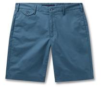 Stretch-Cotton Poplin Bermuda Shorts