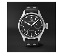 Big Pilot's Automatic 46.2mm Stainless Steel and Leather Watch, Ref. No. IWIW501001