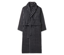 Striped Organic Cotton-Terry Robe