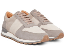 Colour-Block Suede Sneakers