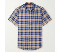 Checked Linen-Blend Shirt