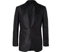 Virgilio Slim-Fit Satin-Trimmed Silk-Blend Jacquard Tuxedo Jacket