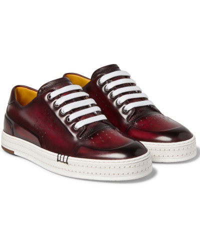 Playtime Polished-leather Sneakers