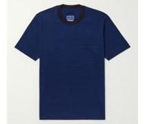 Indigo-Dyed Cotton-Jersey T-Shirt