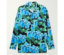 Oversized Camp-Collar Floral-Print Woven Shirt