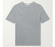 Mélange Cotton and Linen-Blend T-Shirt