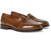 Taylor Polished-leather Penny Loafers