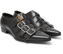 Quebec Leather Monk Strap Shoes