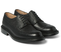 Sid Triple-welted Grained-leather Brogues
